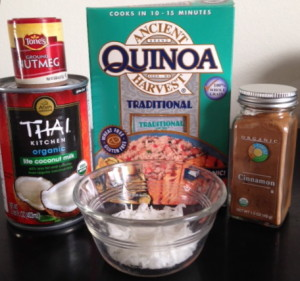quinoa grain gluten-free gluten free wheat-free wheat fiber protein superfood health food healthy weight loss amino acids coconut milk cinnamon vanilla organic
