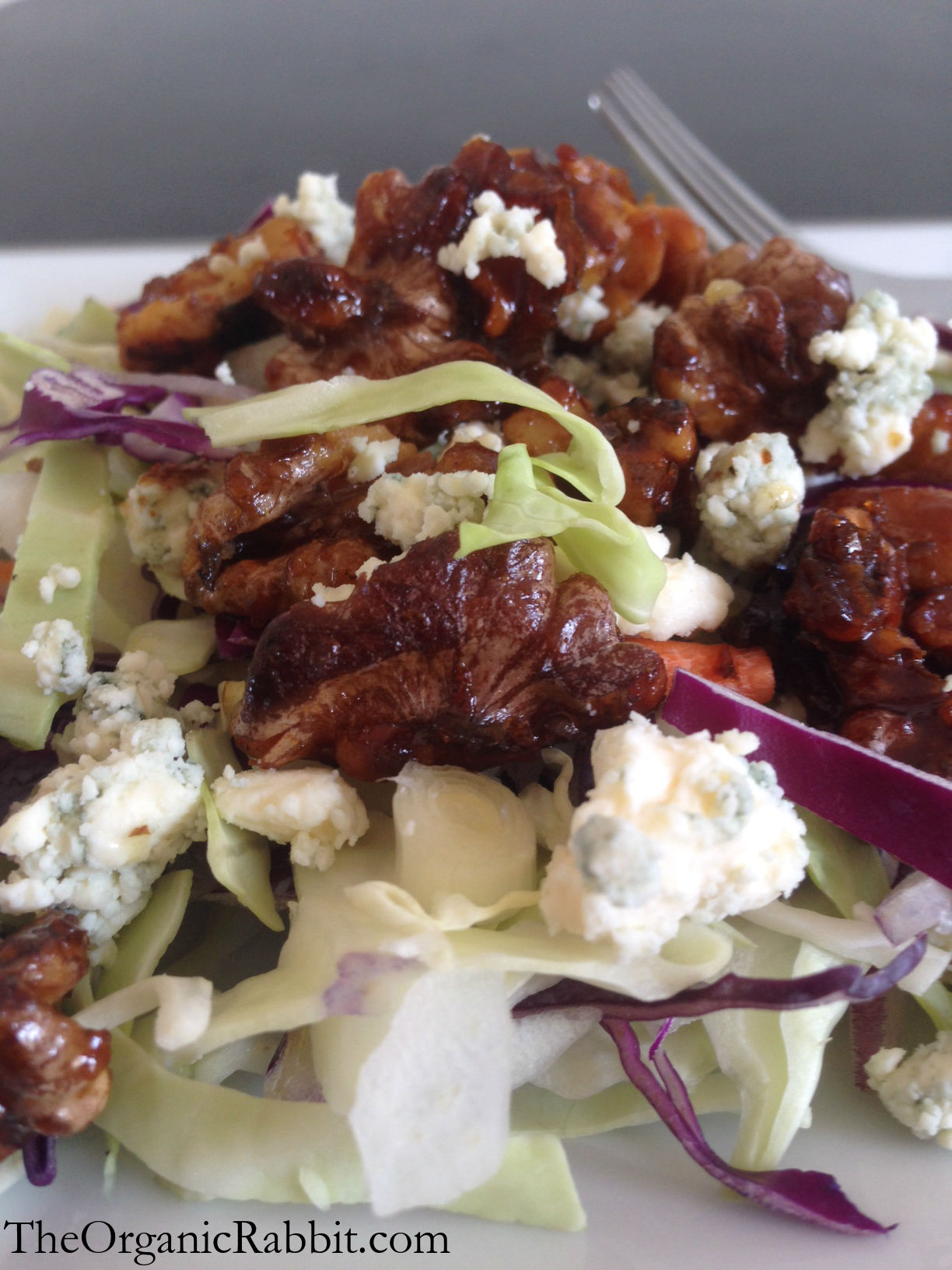 blue cheese candied walnut cabbage salad dijon olive oil vinegar side dish