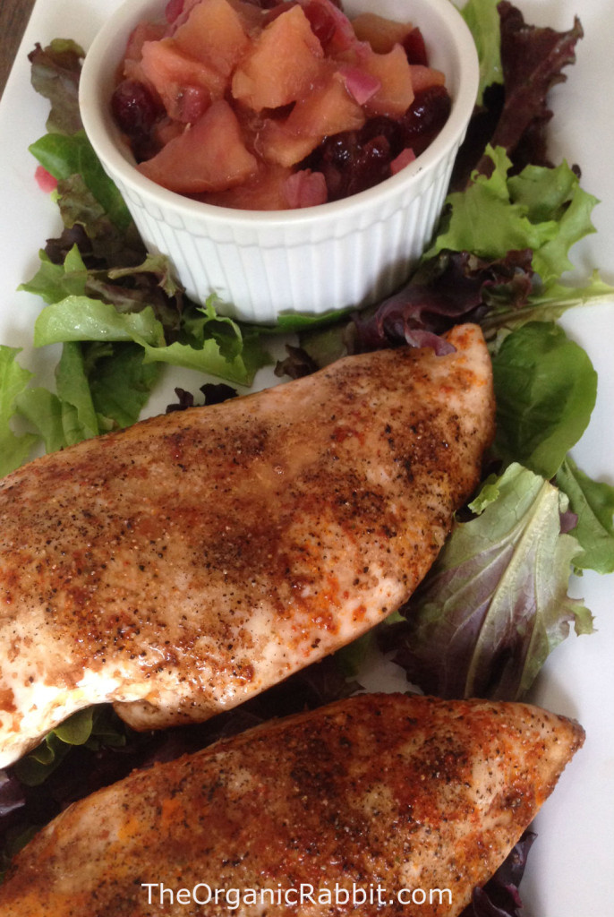 roasted balsamic chicken apple rhubarb chutney paleo gluten free protein