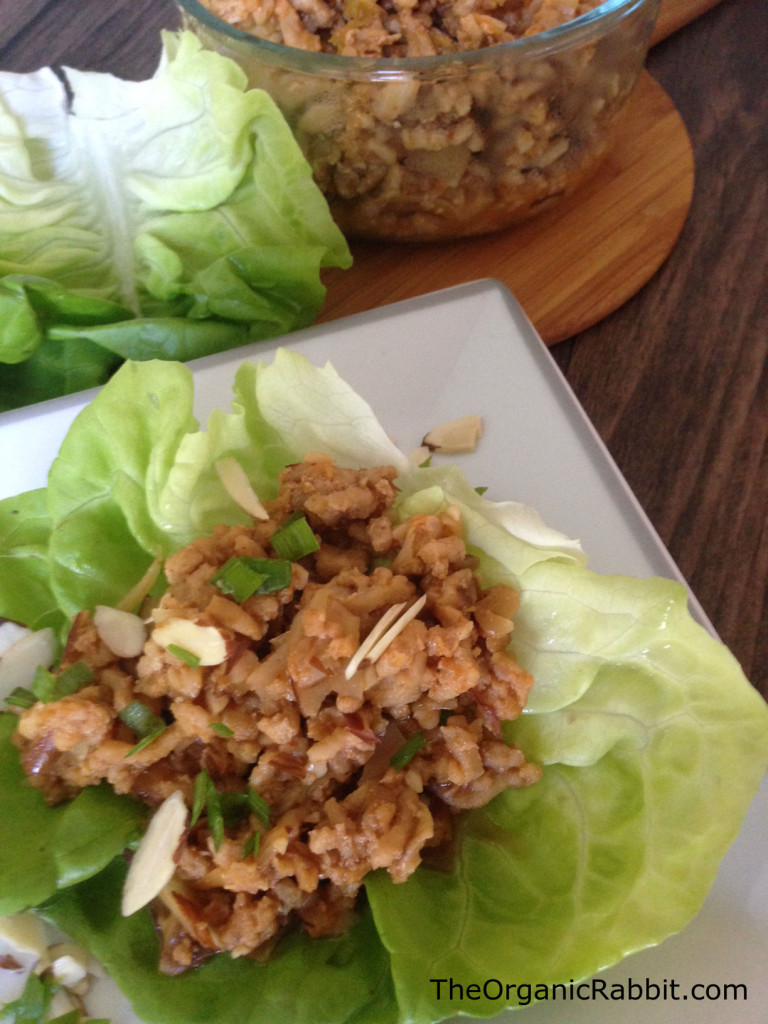 asian chicken lettuce wrap pf chang appetizer protein low fat paleo gluten free