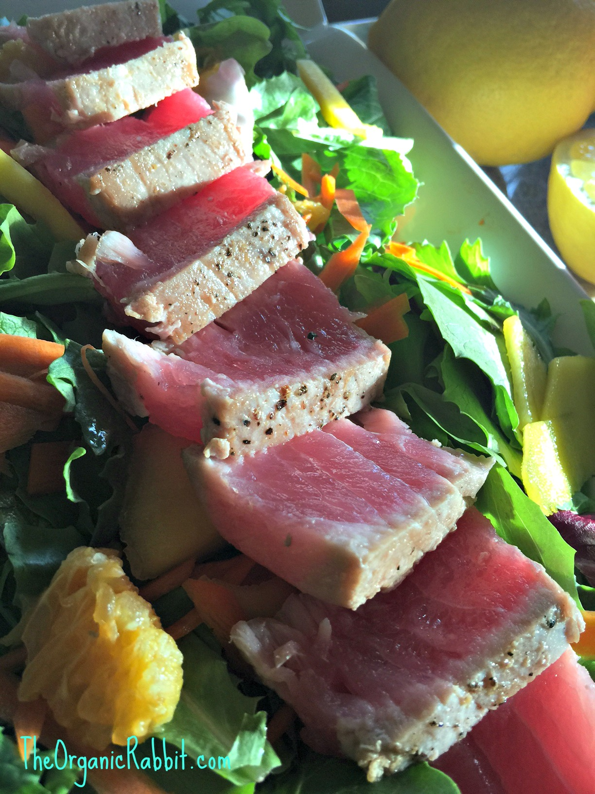 Sesame Seared Tuna With Lime Ginger Vinaigrette Recipes — Dishmaps